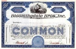 Bloomingdale Bros. Inc. (Bloomingdale's Department Stores) 1930's