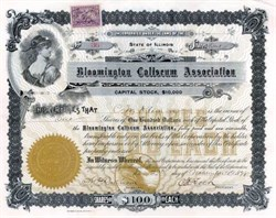Bloomington Coliseum Association 1898 - Illinois