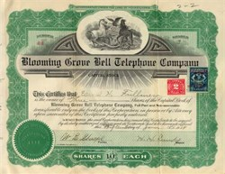 Blooming Grove Bell Telephone Company 1915