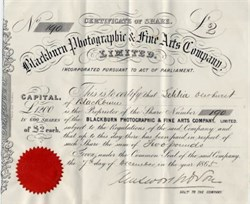 Blackburn Photographic and Fine Arts Company - England 1865