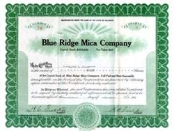 Blue Ridge Mica Company 1929