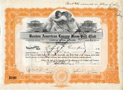 Boston American League Base-Ball Club - Boston Red Sox 1913