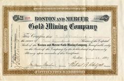 Boston and Mercur Gold Mining Company - Utah 1897