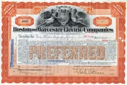 Boston and Worcester Electric Company, Boston 1914