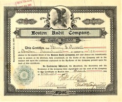 Boston Audit Company (Early Accounting Firm?) - Massachusetts 1901