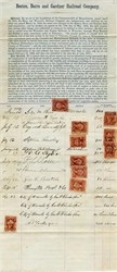 Boston, Barre and Gardner Railroad Company (Orgiinal Stock Subscription with Signatures) - Massachusetts 1869