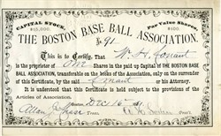 Boston Base Ball Association ( Boston Red Stockings + Boston Braves ) 1881