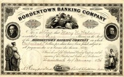 Bordentown Banking Company - New Jersey 1874