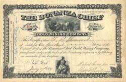 Bonanza Chief Gold Mining Company - Montana Territory 1881