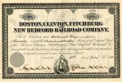 Boston, Clinton, Fitchburg and New Bedford Railroad Company - Massachusetts 1876