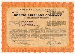Boeing Airplane Company 1940