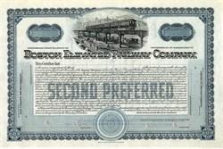 Boston Elevated Railway Company (Rare Specimen Stock Certificate)  - 1920