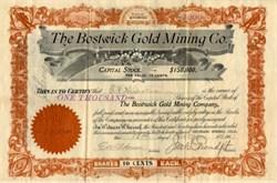 Bostwick Gold Mining Company - Wyoming 1901