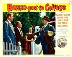 Bonzo Goes to College Lobby Card Starring Maureen O'Sullivan and Edmund Gwenn - 1952