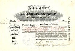 The Bostonians, Incorporated (Traveling Opera Group)  signed by Henry Clay Barnabee - New York 1903