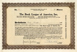 Book League of America, Inc. - New York 1929