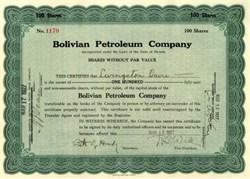 Bolivian Petroleum Company 1927
