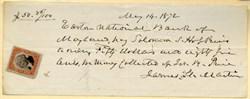 Easton National Bank - Maryland 1872