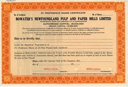 Bowater's Newfoundland Pulp and Paper Mills Limited - Newfoundland, Canada