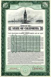 Harbor Improvement Bond, San Francisco ( Earl Warren as Governor)  - California 1950