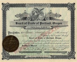 Board of Trade of Portland, Oregon -1908