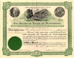 Board of Trade of Winchester - Virginia 1900