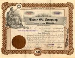 Boone Oil Company - Delaware 1923