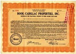 Book - Cadillac Properties, Inc. - Famous Hotel - Michigan 1932