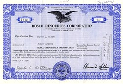 Bosco Resources Corporation (Now International Realty Geoup)  - Delaware 1970