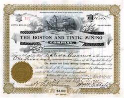 Boston and Tintic Mining 1901 - Silver City, Juab County, Utah