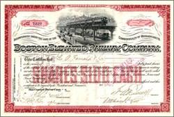 Boston Elevated Railway Company - Massachusetts 1915