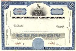 Borg Warner Corporation Specimen Stock Certificate - Illinois 1966