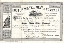 Boston Water Meter Company - Connecticut 1884