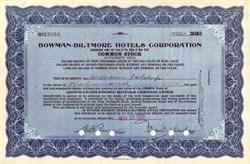 Bowman - Biltmore Hotels Corporation 1936