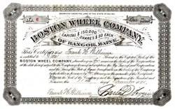 Boston Wheel Company - Bangor, Maine 1885