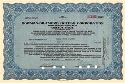 Bowman-Biltmore Hotels Corporation - New York 1940's
