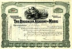 Brooklyn Academy of Music - New York 1921