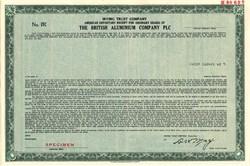 British Aluminum Company PLC - New York 1983