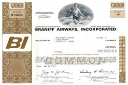 Braniff Airways, Incorporated (Concorde SST in Vignette) Harding Lawrence as President  - 1972