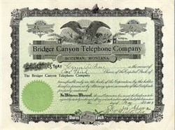 Bridger Canyon Telephone Company - Bozeman, Montana 1908