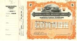 British Columbia Breweries Limited - Canada 1913