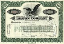 Brown Company - Maine 1941