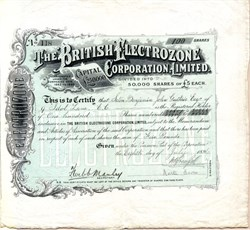 British Electrozone Corporation, Limited - 1896