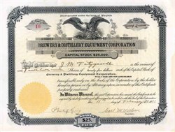 Brewery & Distillery Equipment Corporation 1911