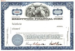 Brentwood Financial Corporation (Brentwood Savings and Loan Association) - Los Angeles