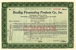 Bradley Fireproofing Products Co ., Inc. - New Jersey 1926