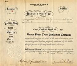 Bronx Home News Publishing Company - New York 1907