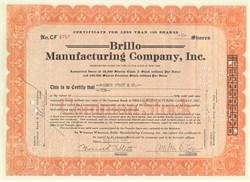 Brillo Manufacturing Company signed by Creator of Brillo Pad, Milton B. Loeb