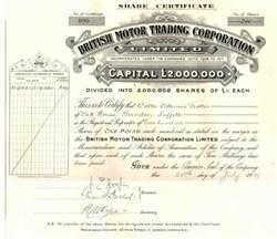 British Motor Trading Corporation 1919