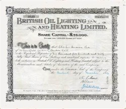 British Oil Lighting and Heating Limited 1929